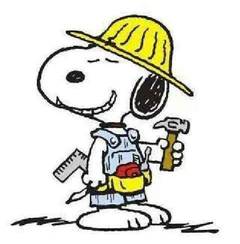 Construction Snoopy