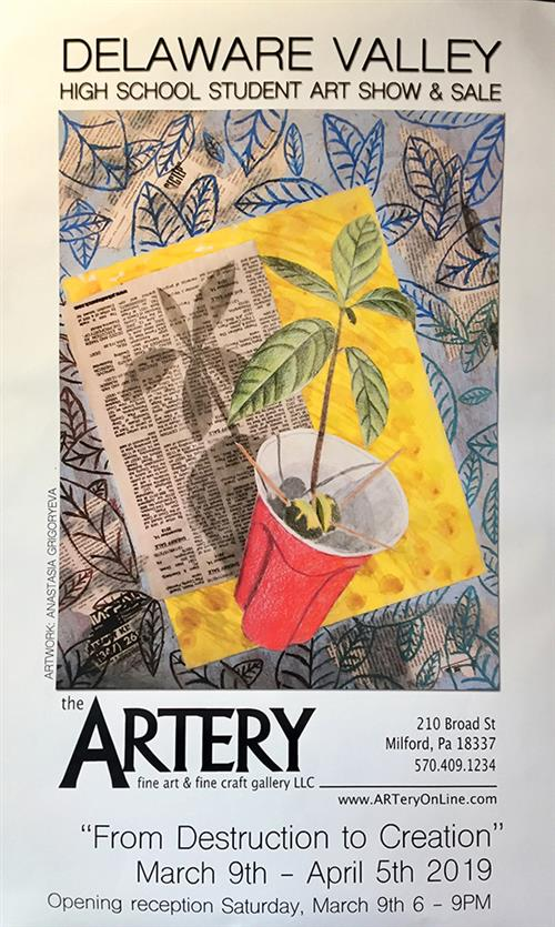 DVHS Student Art Show and Sale at ARTery in Milford