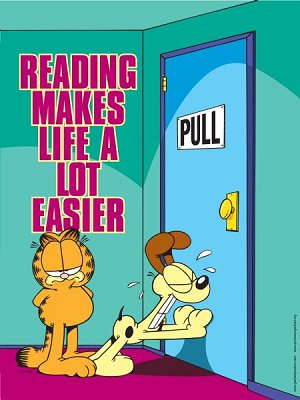 Garfield : Reading Makes life a lot easier